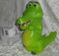 Deko Lampe Krokodil Wackelauge - Kinderzimmerlampe - Deutsche Herstellung -