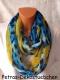 GIL-DESIGN Loop Schal blau - bunt * NEU* für Damen PDS 457-12