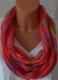 GIL-DESIGN Loop Schal rot mit Sternen * NEU* für Damen PDS 486-08