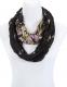 GIL-DESIGN Loop Schal schwarz mit Muster * NEU* für Damen PDS 484-01