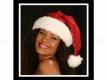 Weihnachtsmütze  rot mit Pailetten mit dicken Pelzrand