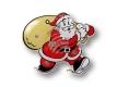 Weihnachtsanstecker - Blinki - Weihnachtsmann mit Sack