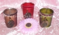 3 Teelichthalter mit Holzanhänger von Pajoma